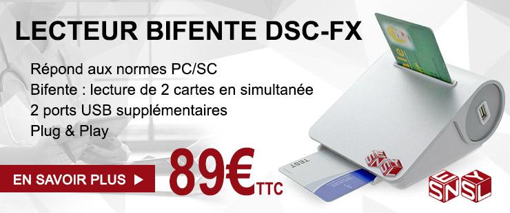 Lecteur PC/SC bifente DSC-FX