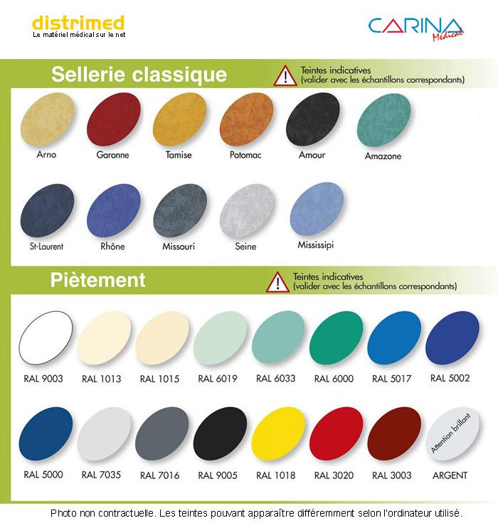 Coloris Carina gamme Standard