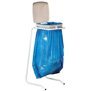 Support pour sac poubelle avec couvercle - Couvercle pour poubelle automatique ...