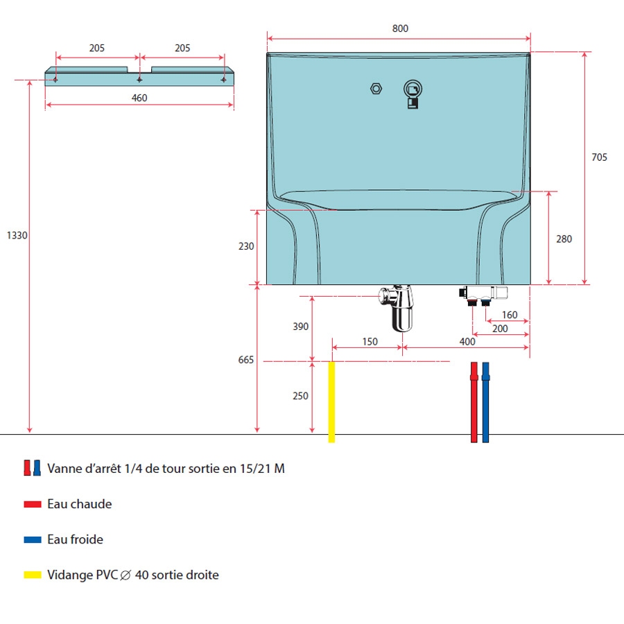 lavabo monobloc autonome aniosave. Black Bedroom Furniture Sets. Home Design Ideas