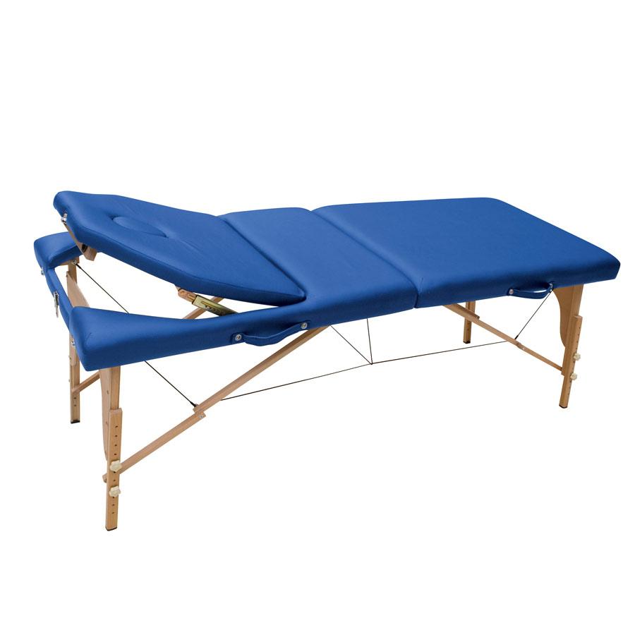 table de massage 2 plan avec dossier inclinable. Black Bedroom Furniture Sets. Home Design Ideas