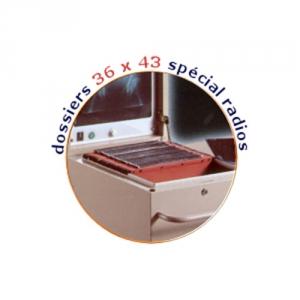 Dossier cartonné 36 x 43.5 pour bac classeur roulant