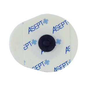 Electrodes radiotransparentes à pression carbone (sachet de 60)