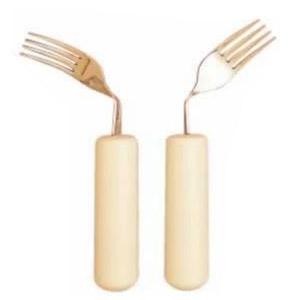 Fourchette coudée pour gaucher