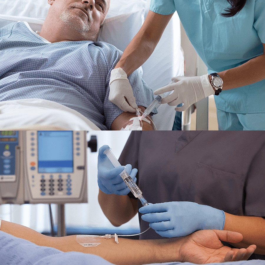 Posiflush sp seringue de rin age pr remplie de solution - Rincage pulse chambre implantable ...