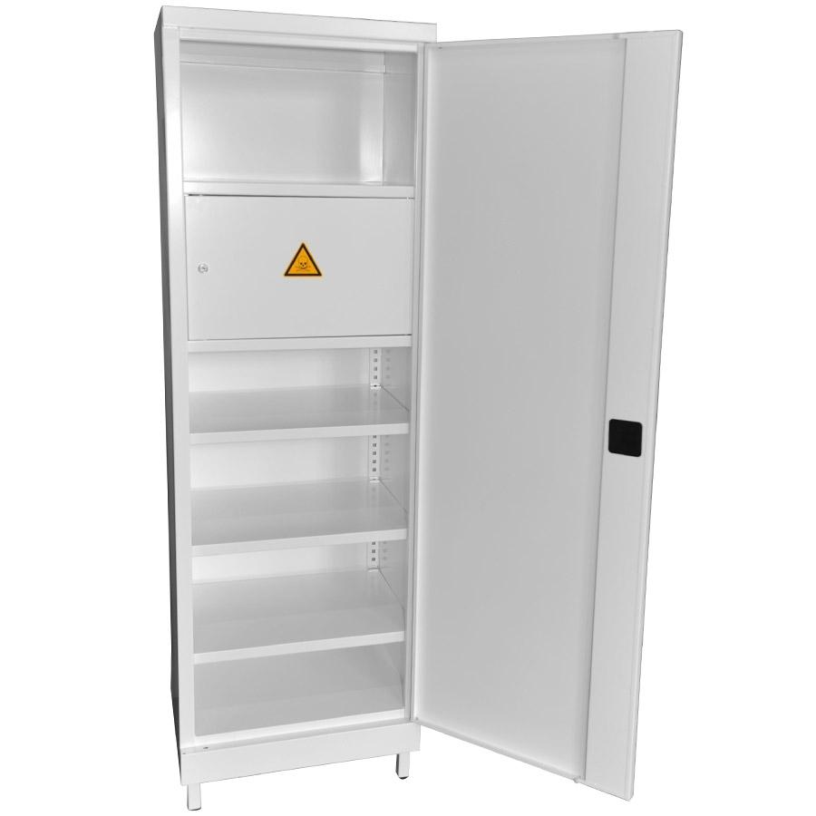 armoire pharmacie 1 porte avec coffre toxiques. Black Bedroom Furniture Sets. Home Design Ideas