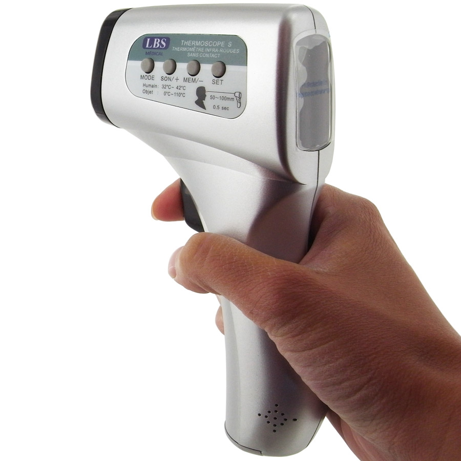 Thermometre medical sans contact thermoscope lbs for Thermometre infrarouge cuisine
