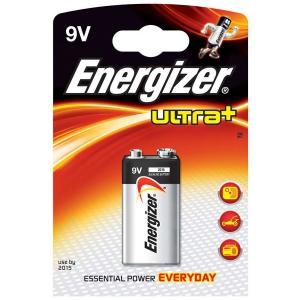 Pile 9V alcaline Energizer ultra+