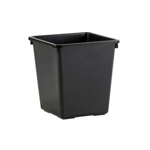 Corbeille à papier en plastique noir 27L