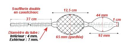 Distrimed matériel médical : Accessoire de proctologie Soufflerie double heine