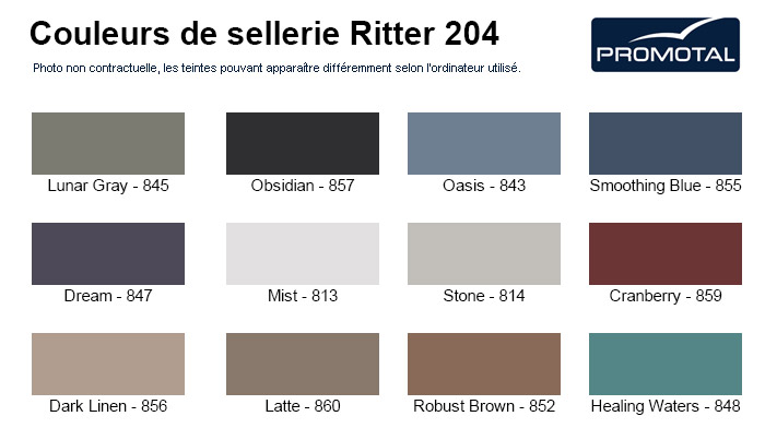 Coloris sellerie Promotal Ritter 204